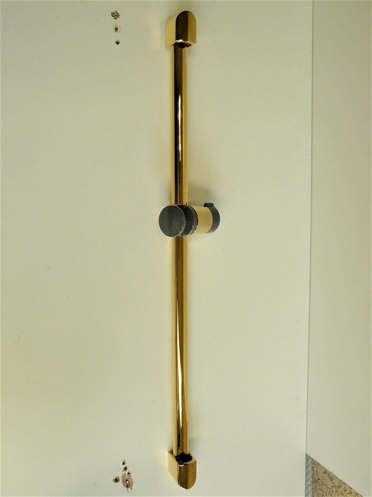 Brausestange Gold (24 Karat), 600mm, Duschstange, Brause, Dusche, Stange