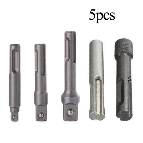 5x SDS Plus Sockel Treiber Bohrer Bit Sechskant Spannfutter Adapter Set