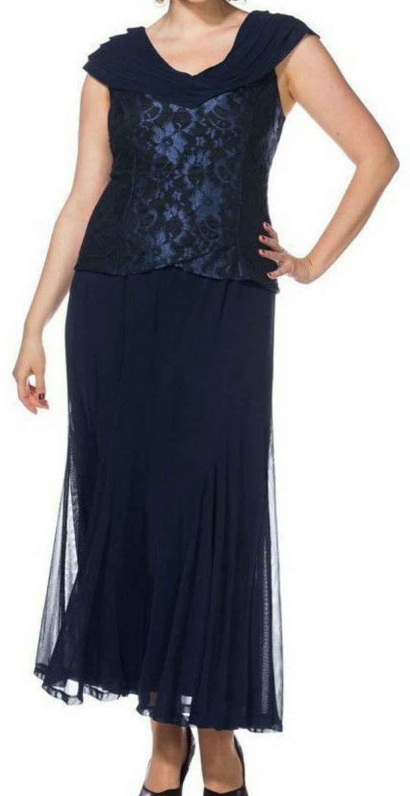 Sheego Eventkleid Abendkleid Kleid Gr. 40 bis 58 Blau Ton (040)