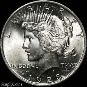 1923-Peace-Dollar-BU-Uncirculated-LUSTER-90-Silver-US-Coin