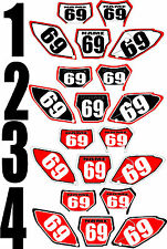 Graphic for 2005-2014 Honda CRF450X CRF 450 X 450X Number Plate Side Panel Decal