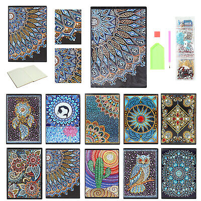 5D DIY Mandala Diamant Diamond Painting Notebook 50 Sheets A5 Notizbuch Deko DE