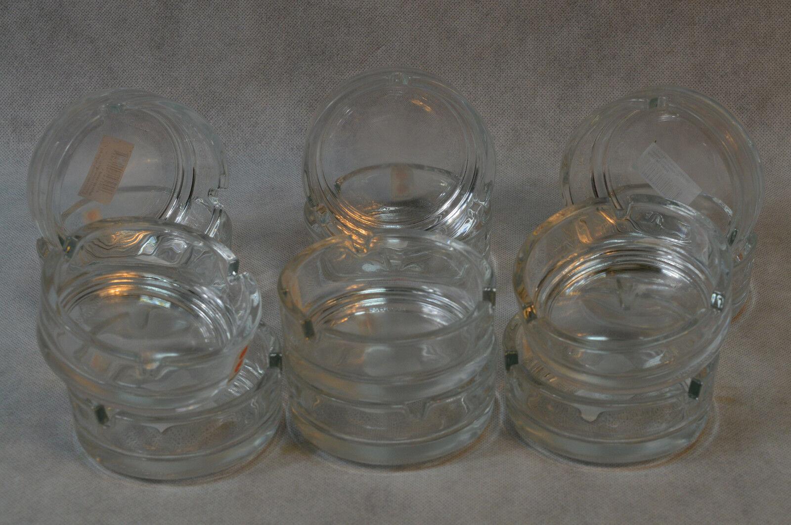 48 Aschenbecher aus Glas Ø 10cm Ascher für Bistro Lokale Marktstände Bar usw.