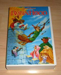 VHS-Robin-Hood-Walt-Disneys-Meisterwerke-Zeichentrick-Videokassette
