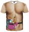 New-Fashion-Cool-Women-Men-Funny-Muscle-Print-3D-T-Shirt-Casual-Short-Sleeve-Tee thumbnail 34
