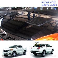 Matte Black Scoop Bonnet Vent Hood Cover Fit Mazda Bt-50 Pro Xlt 2012 15 17 Ute