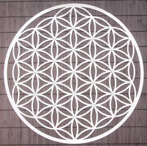 divers Diamètre décoration murale Acier Inoxydable Cristaux Fleur de la vie
