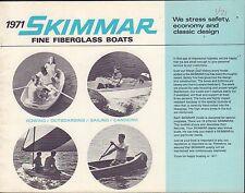 Skimmar Fine Fiberglass Boats 1971 Boating Brochure 091416DBL2