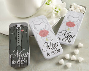 Image Is Loading Mint To Be Heart Mints Bride Groom Tins