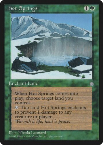 Hot Springs Ice Age NM Green Rare MAGIC THE GATHERING MTG CARD ABUGames