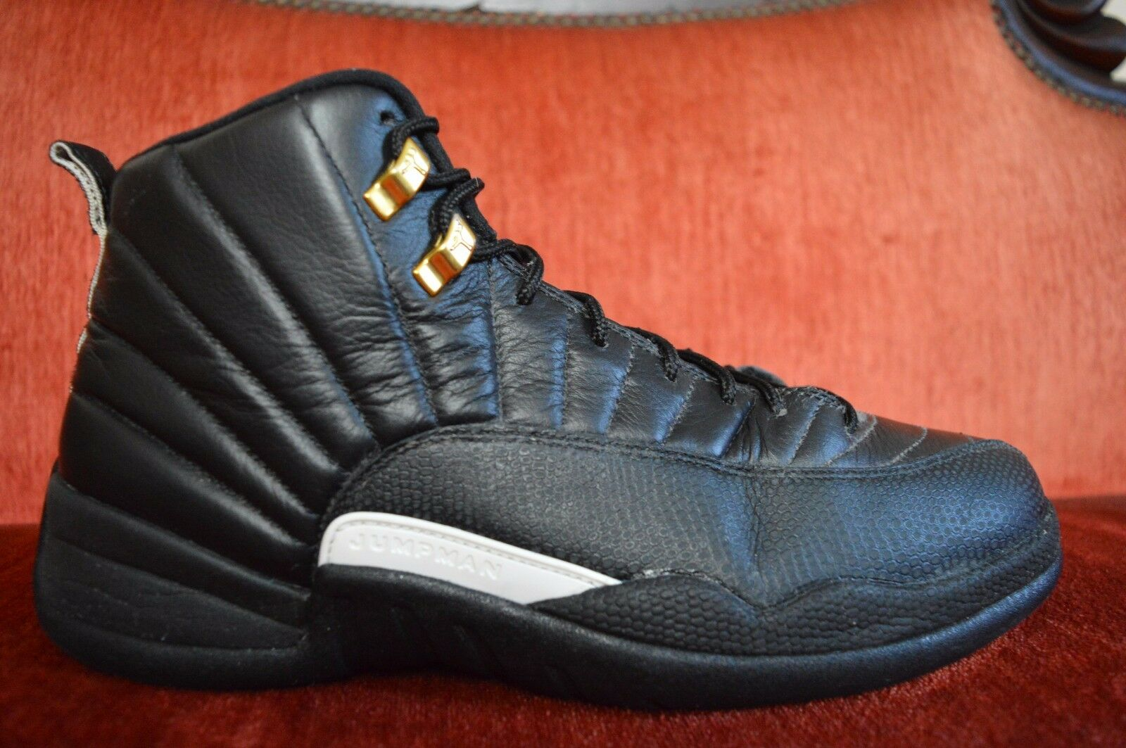 Nike Air Jordan 12 Retro Master Size 11.5 Black White Metallic gold 130690 013