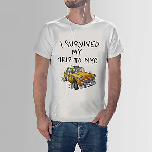 Image is loading I-Survived-My-Trip-To-Nyc-T-Shirt- 32dde6ddad1