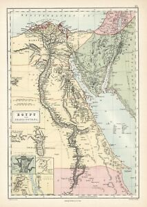 1873-Egypt-and-Arabia-Petraea-Original-map