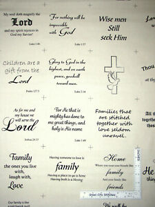 Religious-Bible-Verses-Phrases-Cream-Cotton-Fabric-David-Textiles-By-The-Yard