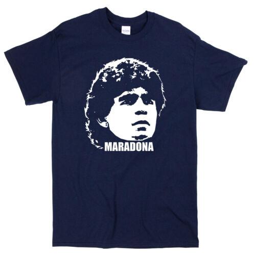 Maradona Legend T-Shirt-Argentine Coupe du monde NAPOLI FOOTBALL 80 s 90 s Icon Tee