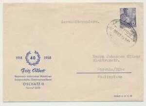 Bahnpostbeleg 1958, LEIPZIG-RIESA-DRESDEN ZUG 0193 n. Strehla (50333)