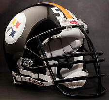JACK LAMBERT PITTSBURGH STEELERS Schutt NJOP Football Helmet FACEMASK - BLACK