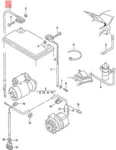 image is loading genuine-vw-wiring-set-for-battery-nos-vw-