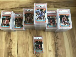 1986-FLEER-Basketball-Card-Complete-Set-Sticker-Set-ALL-PSA-Graded-Jordan