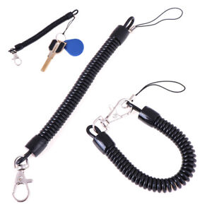 2xRetractable-phone-spring-elastic-rope-security-gear-tool-anti-lost-keychain-DS