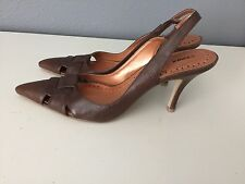 "Bronx 'Chrissy'""Womens Brown Leather Pointy Heels Size 8.5 (39) Brazil (#AB)"