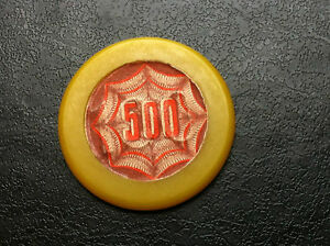 Old-vintage-CASINO-MUNICIPALE-Very-rare-token-Gaming-Chip-500