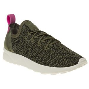 ee84c5654 New Womens adidas Khaki Green Zx Flux Adv Virtue Textile Trainers ...