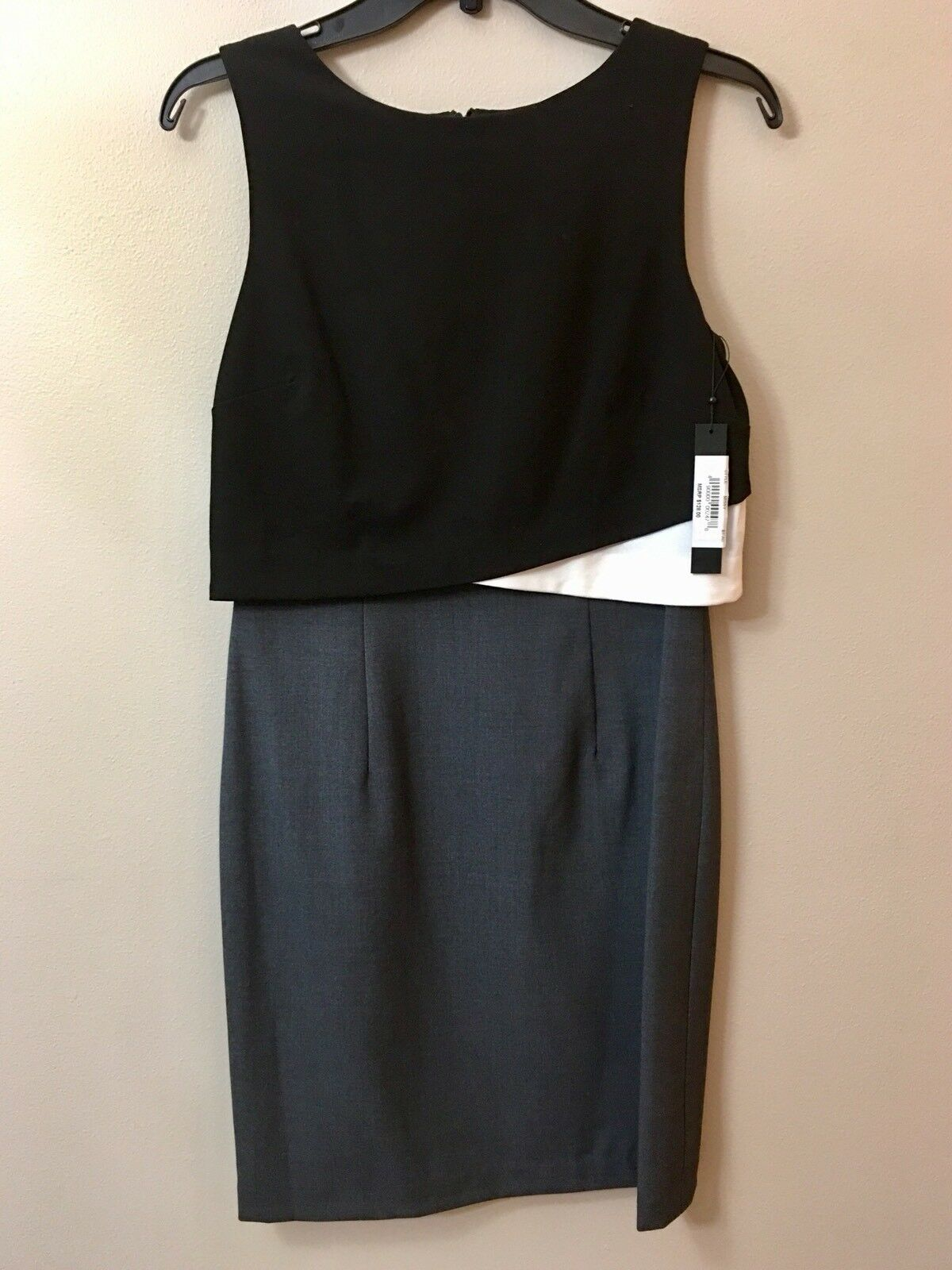 NWT Ivanka Trump Missy damen schwarz Casual Career Dress Größe 4 RRP