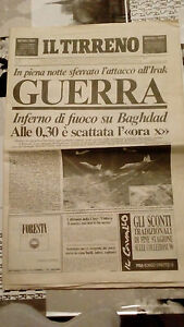IL TIRRENO - GUERRA DEL GOLFO 1991 - Italia - IL TIRRENO - GUERRA DEL GOLFO 1991 - Italia
