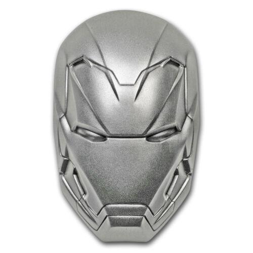 SKU#173291 2019 Fiji 2 oz Silver Marvel Icon Series Iron Man Mask