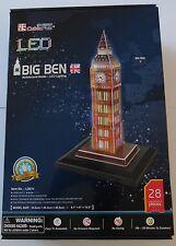 3d puzzle Big Ben londres LED cubic Fun torre Clock Tower light Westminster luz