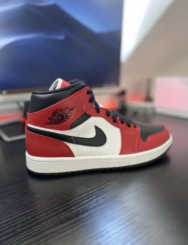 Nike Air Jordan 1 Mid Chicago Black Toe BRAND NEW Size 6.5(UK) 7.5(US)