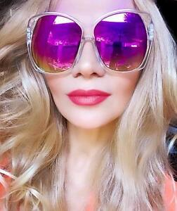 RARE-Oversized-XL-Geometric-Square-Mirror-Large-Jackie-O-Fashion-Sunglasses-7206