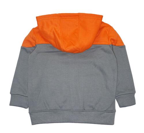 Reebok Boys Gray /& Orange Hoodie 2pc Jogger Set Size 2T 3T 4T 4 5 6 7 8 10 12