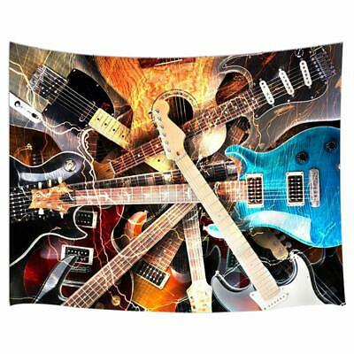 Music Decor Tapestry Variety of Guitar Wall Art Hanging for Bedroom Living  Room | eBay