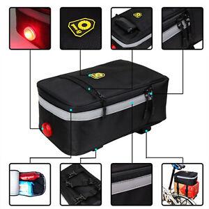 LED-Fahrradtasche-Multifunktional-Gepaecktraeger-Fahrrad-Gepaecktasche-Satteltasche