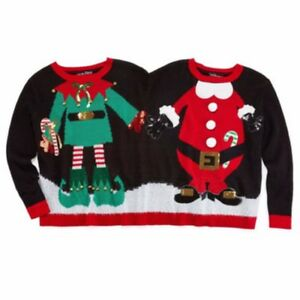 Superhero Ugly Christmas Sweaters.Details About 2 Person Ugly Christmas Sweater