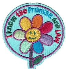 Girl Daisy I KNOW the PROMISE & the LAW Fun Patches Crests Badge SCOUT GUIDE