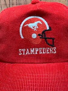0b6c07919 Details about Vtg Calgary Stampeders CFL Corduroy Ted Fletcher the classic  Snapback Hat Cap