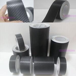 Adhesive High Gloss Black Vinyl Tape Auto House Wrap Film Sticker Bubble Free