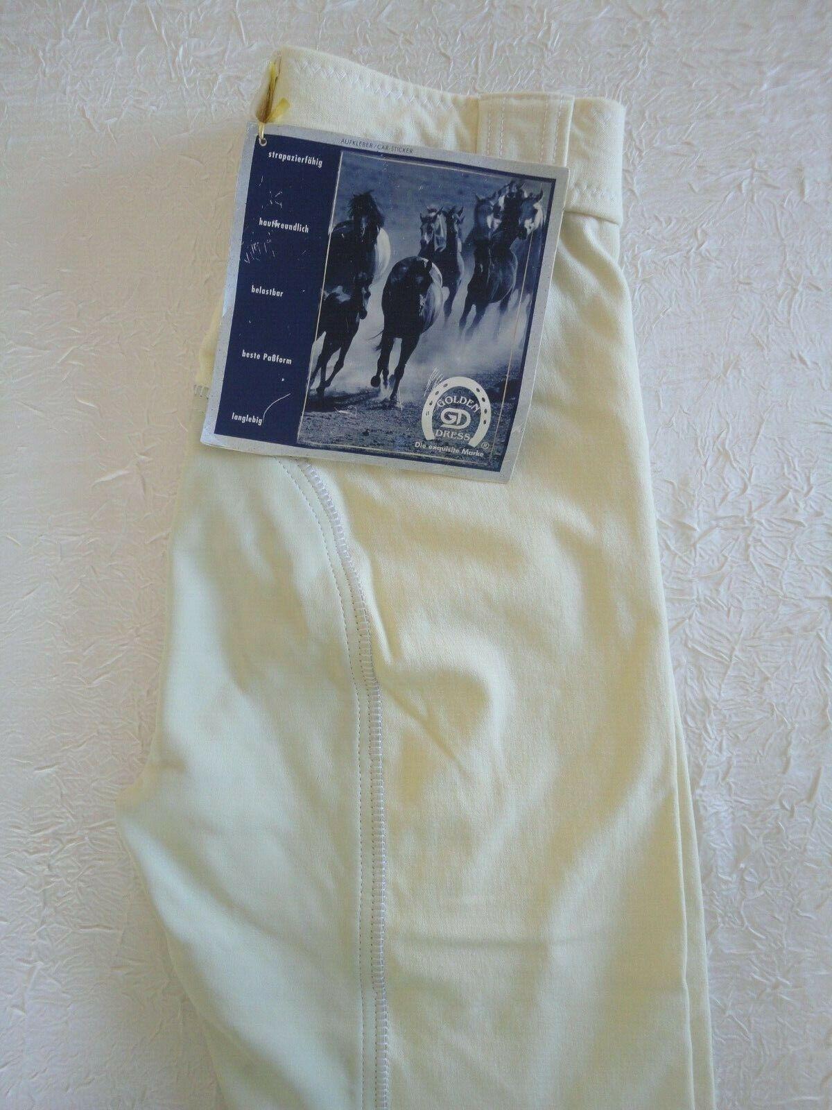 Breeches daSie Weiß GoldEN Kleid GB 26  UK 12  F 38  D 42  USA 28  NEW