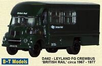 Base Toys Da62 Leyland Fg Crewbus British Rail 1/76 Scale/00 Gauge T48