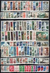 B137313-FRANCE-Y-amp-T-1435-1662-MINT-MNH-MH-6-COMPLETE-YEARS-CV-170