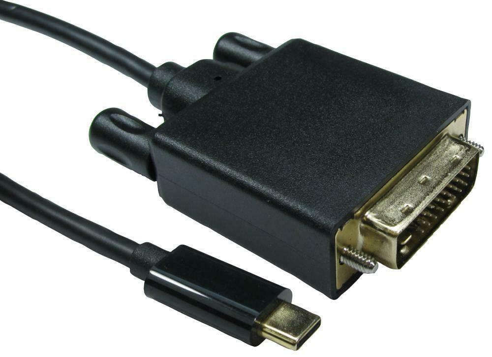 USB-C TO DVI CABLE, 4K 30HZ 1M, CONVERT FROM USB-C, CONVERT TO DVI FOR UNBRANDED