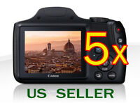 5x Clear Lcd Screen Protector Guard Shield Film For Canon Powershot Sx520 Hs