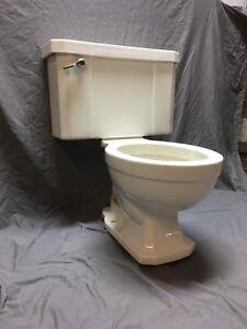 Phenomenal Details About Vtg Art Deco Ceramic White Porcelain Complete Toilet Bowl Tank Lid Case 595 18E Inzonedesignstudio Interior Chair Design Inzonedesignstudiocom