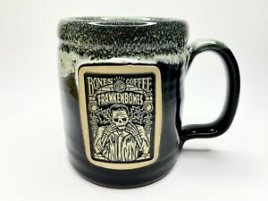 Bones-Coffee-Company-Frankenbones-Halloween-Deenen-Pottery-Sold-Out-Cup-Mug-New