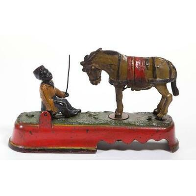 1006. ALWAYS DID SPISE A MULE / KICKING MULE (OMN) CAST-IRON MECHANICAL BANK Lot 1006
