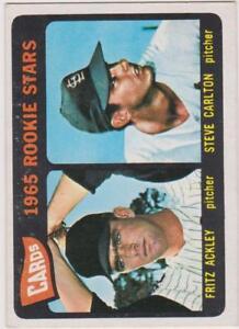 1965-Topps-Baseball-Card-477-Cards-1965-Rookie-Stars-Steve-Carlton-EX