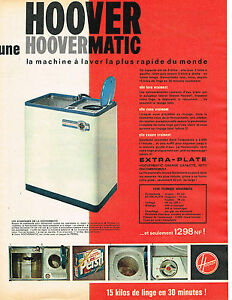 publicite advertising 114 1961 hoover lave linge machine laver hoovermatic ebay. Black Bedroom Furniture Sets. Home Design Ideas